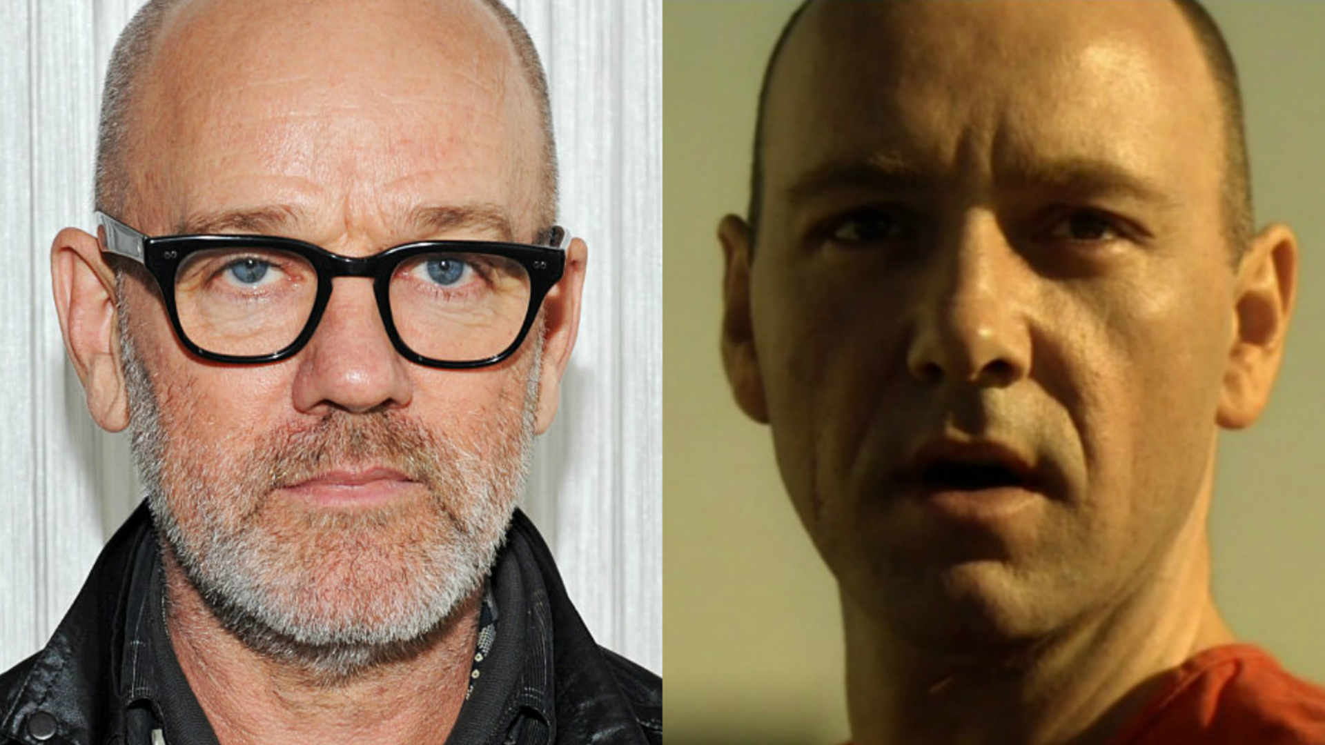 Michael Stipe and Kevin Spacey in Seven