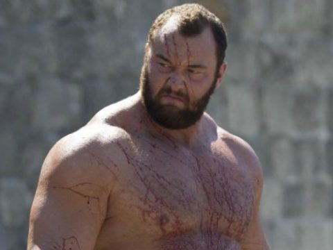 The Mountain actor Hafþór Júlíus Björnsson in Game Of Thrones