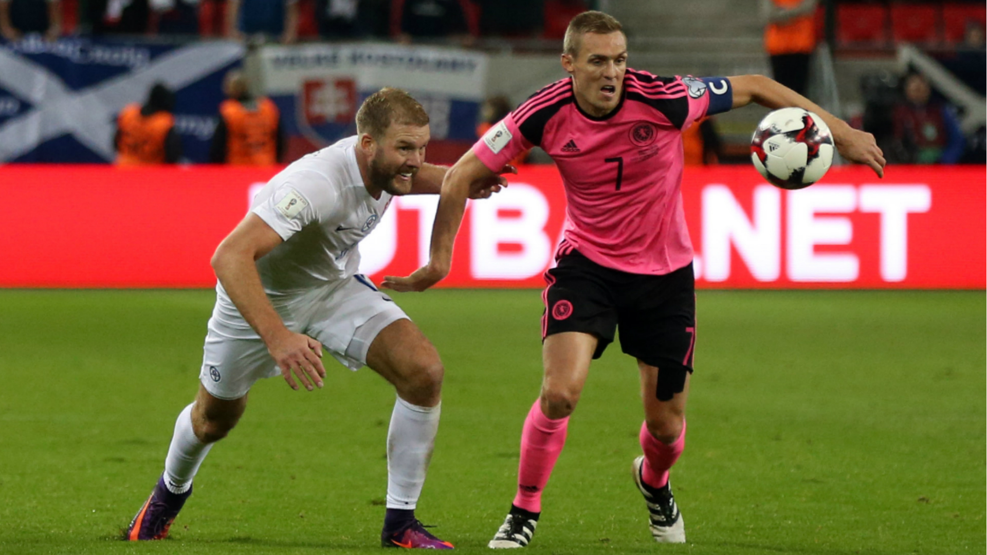 Scotland's pink away kit