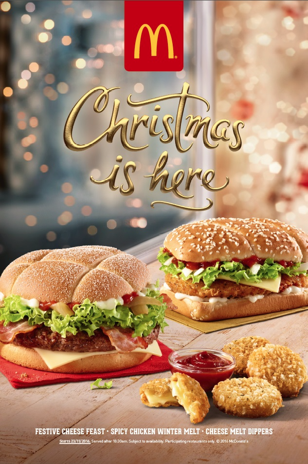 The McDonald's festive menu.