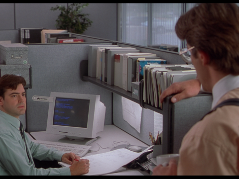 A still from the movie Office Space