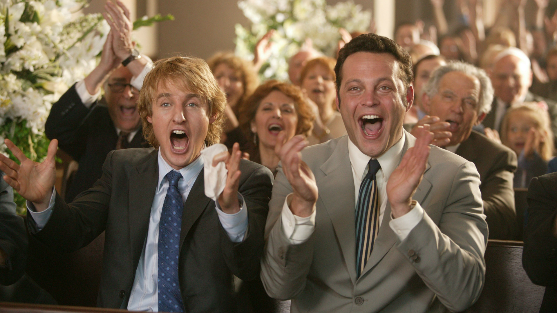 Owen Wilson and Vince Vaughn in Wedding Crashers.