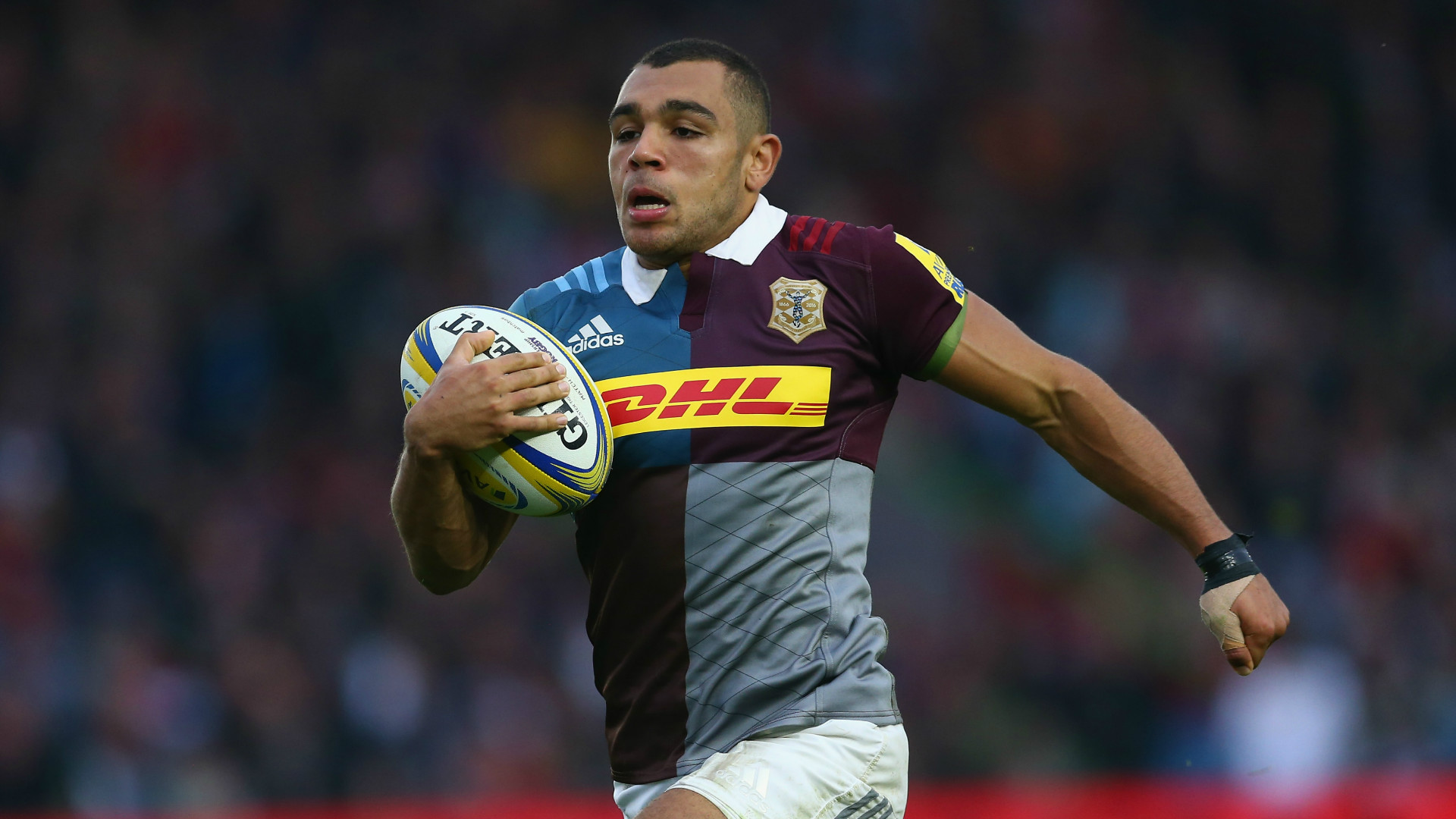 Joe Marchant in action for Harlequins
