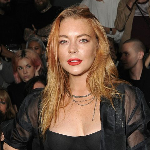 Lindsay Lohan poses for a picture.