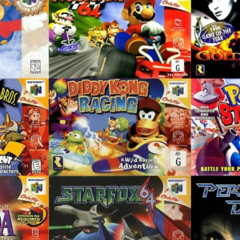 The Nintendo 64 game console.