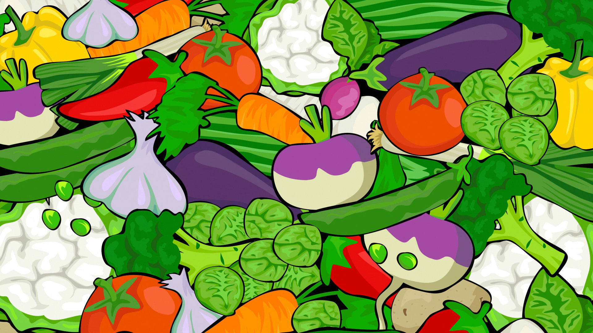 A artful selection of vegetables.
