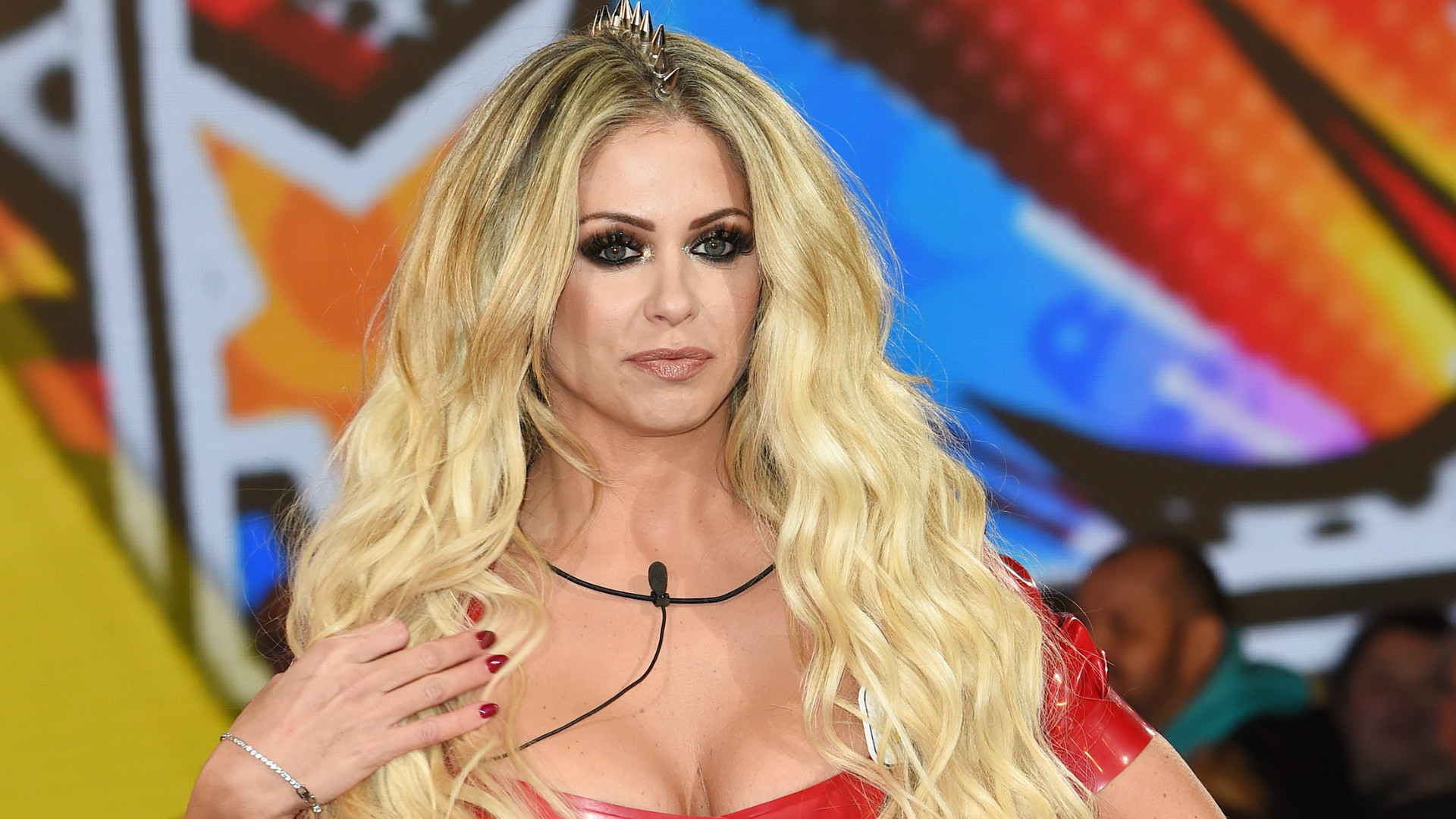 Bianca Gascoigne entering the Big Brother house.