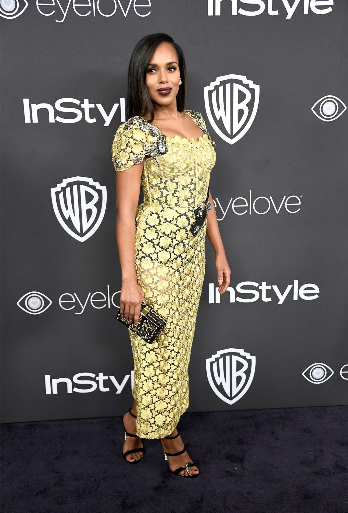 Nominee Kerry Washington stunned everyone on the red carpet