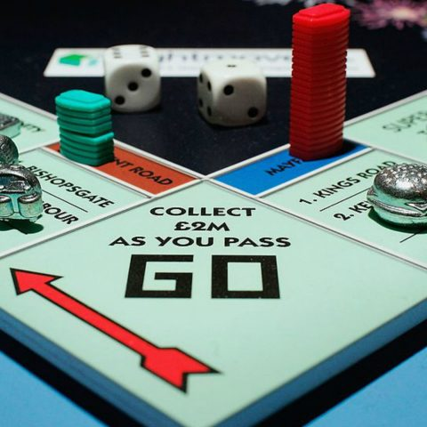 Monopoly the classic boardgame.