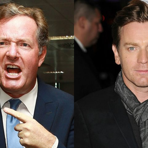 Piers Morgan and Ewan McGregor