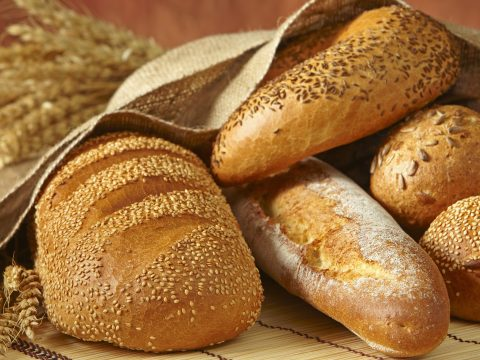 A selection of breads.