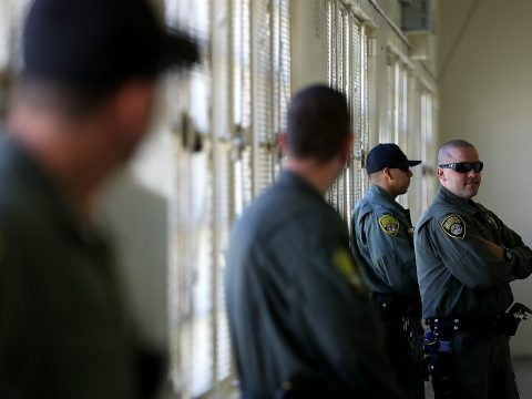 A group of US prison guards.