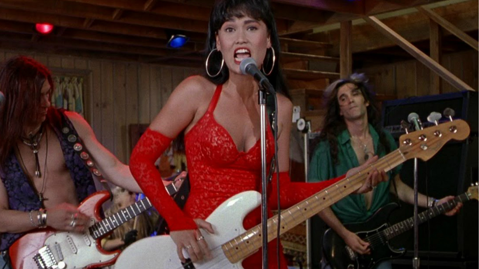Tia Carrera in Wayne's World