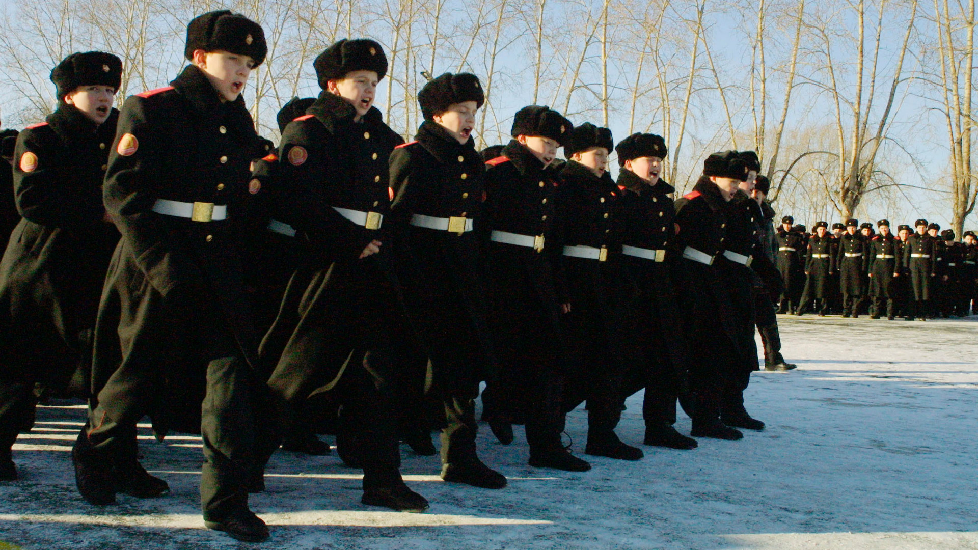 A group of troops in Siberia.