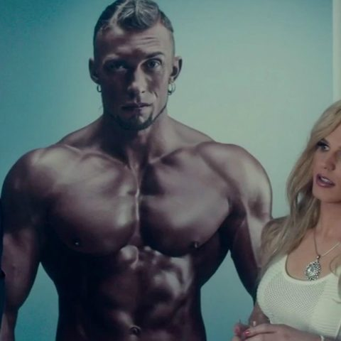 Derrick Barry with Alexander Skarsgaard in War On Everyone