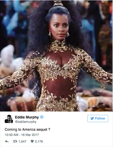 Screen Shot 2017 03 16 at 12.25.54 Eddie Murphy Teases COMING TO AMERICA Sequel