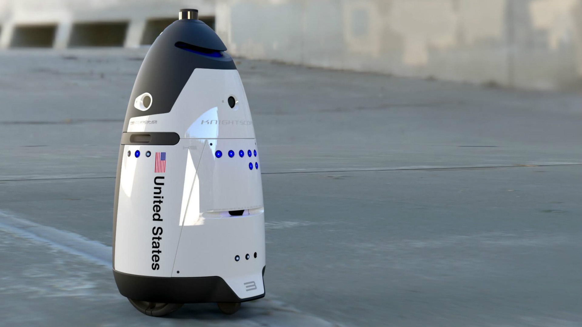 The K5 Patrol robot from Knightscope