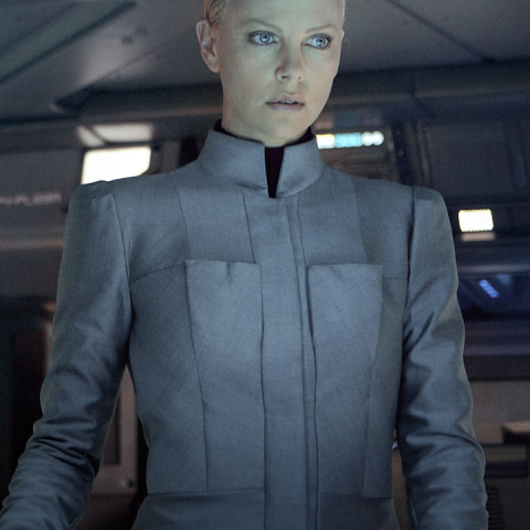 Charlize Theron as Meredith Vickers.