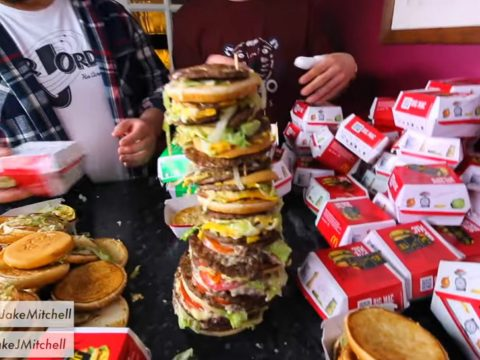 The mother of all burgers by Jake Mitchell.