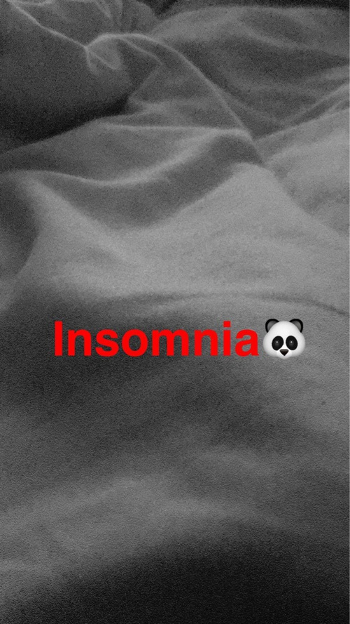 snap chat insomia