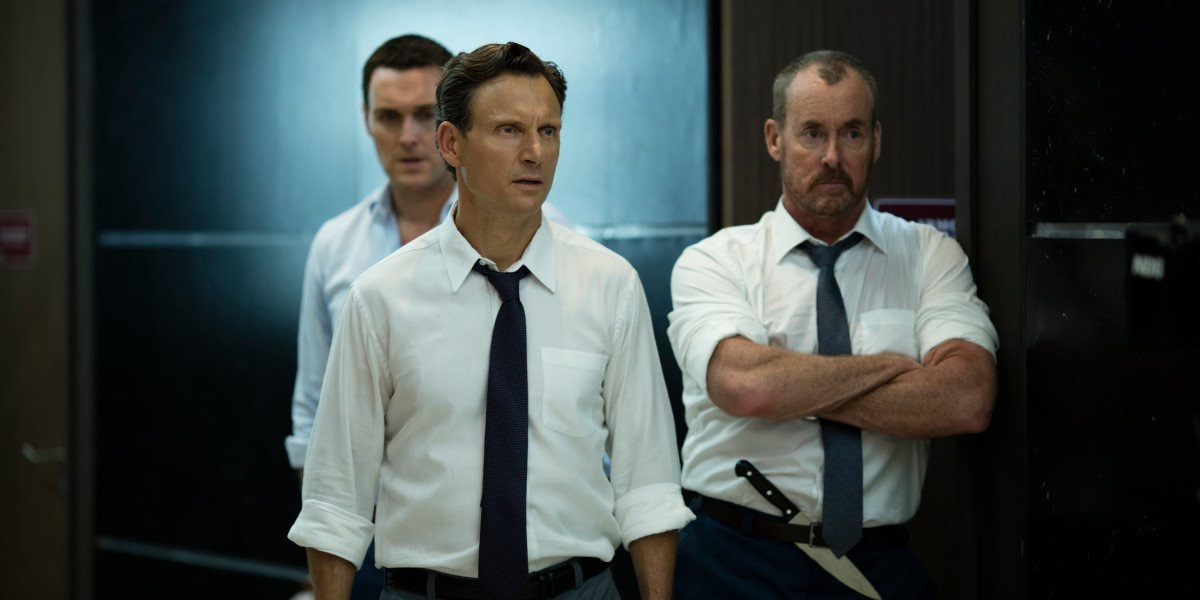 Tony Goldwyn and John C McGinley in the Belko Experiment