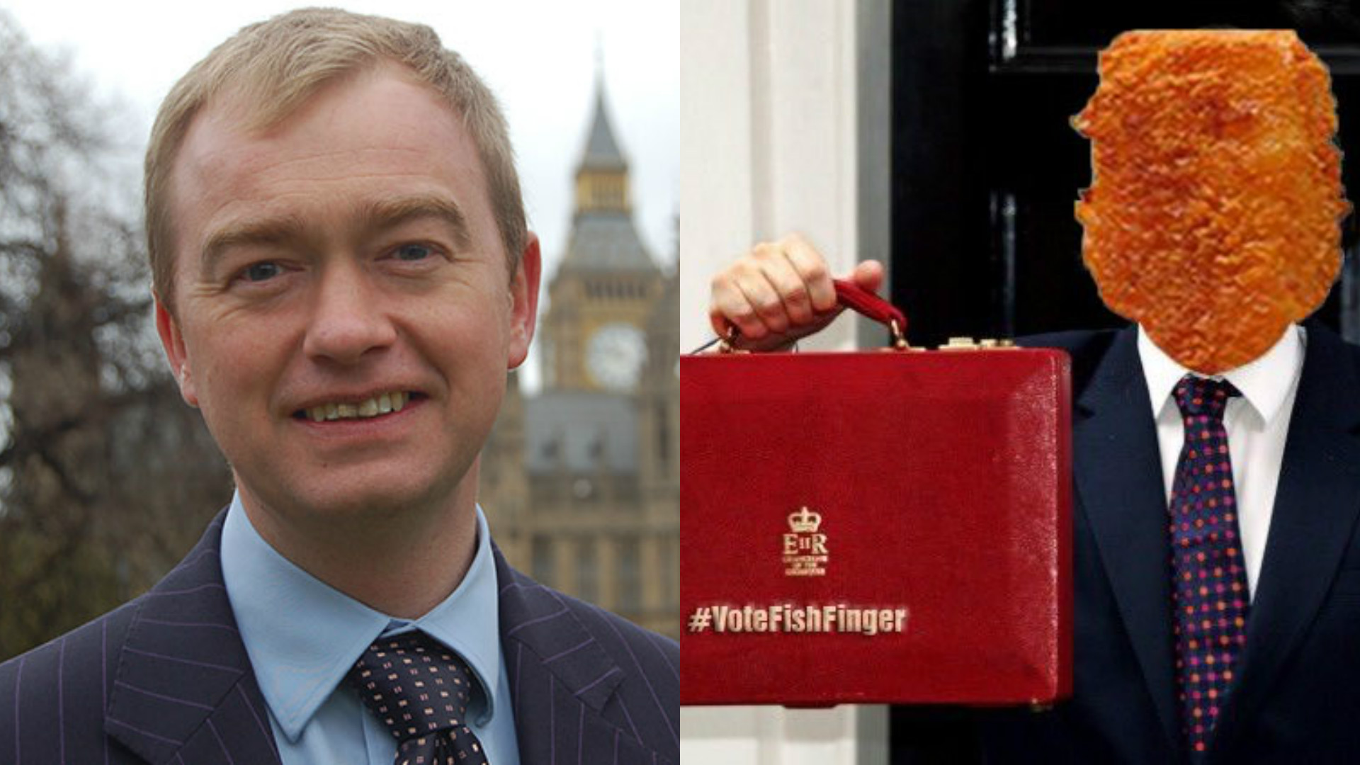 A picture of Tim Farron and a fish finger