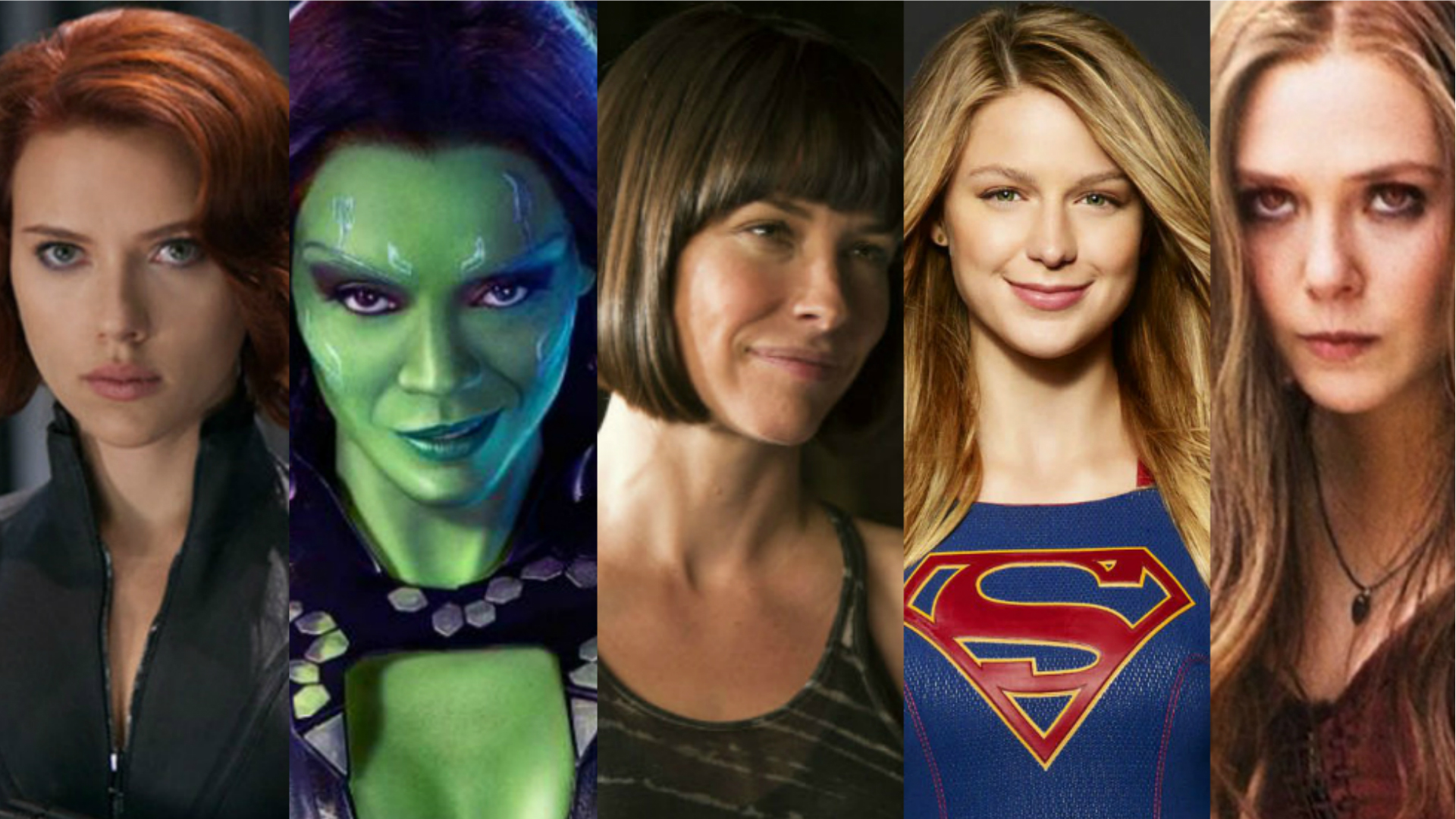 5 female superheroes