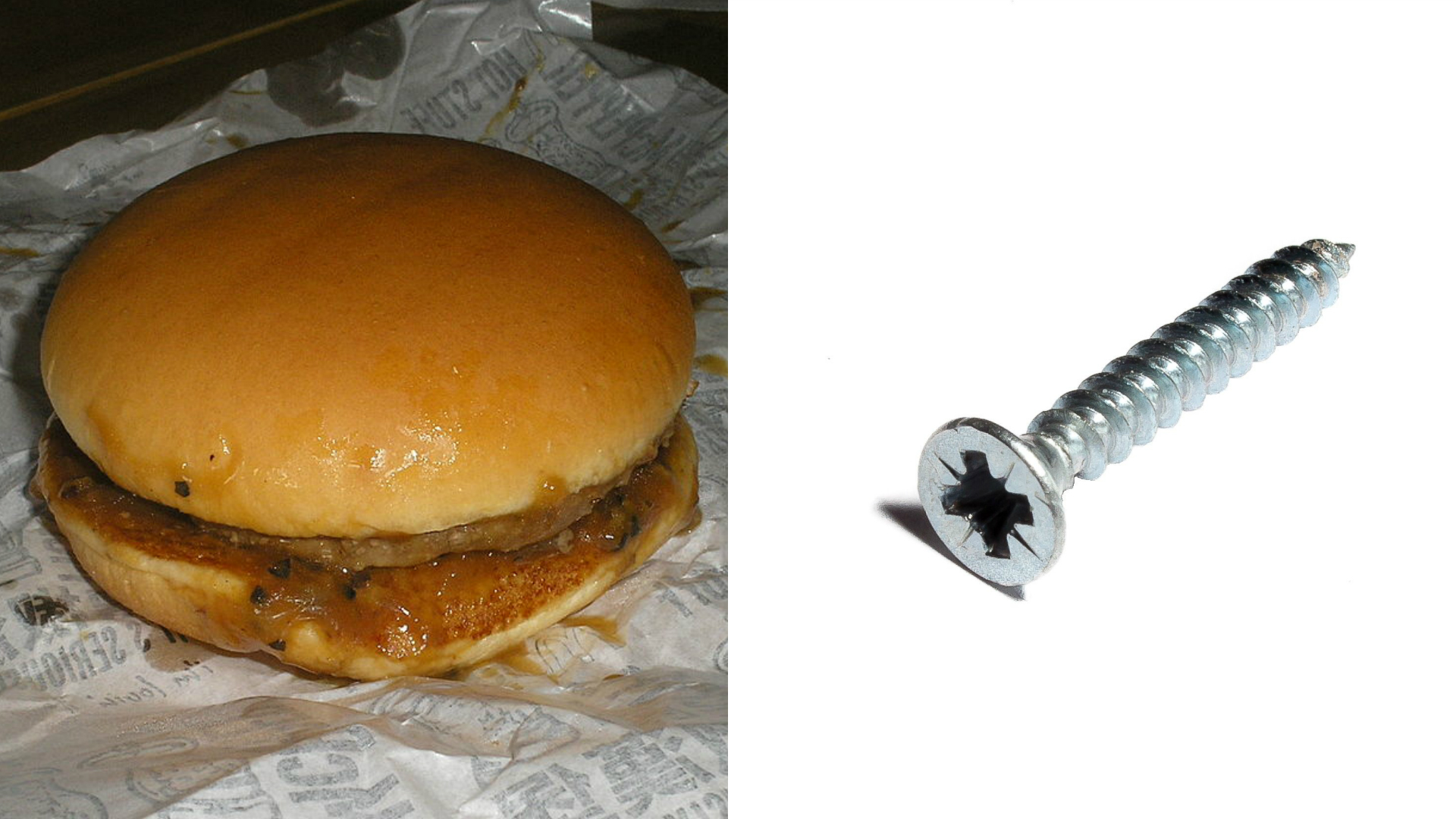 McDonald's Burger screw