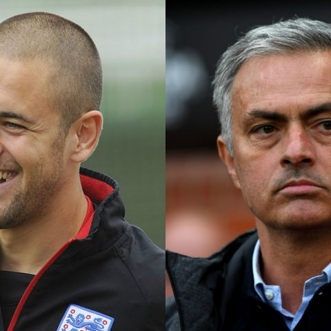 Joe Cole and Jose Mourinho
