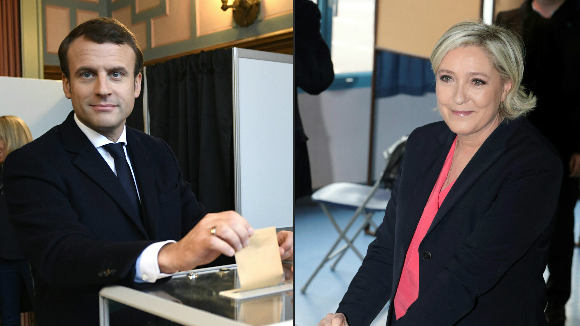 Marine Le Pen and Emmanuel Macron.