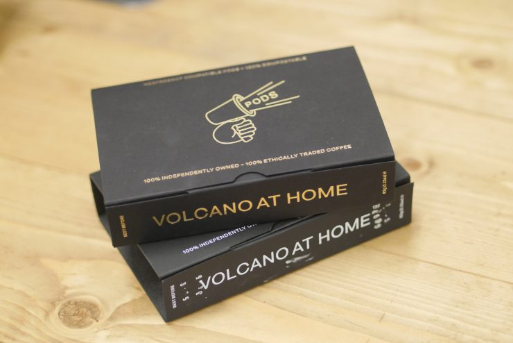 volcano coffee pods