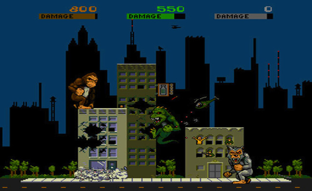 The original Rampage game.