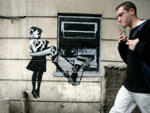 A Banksy artwork.