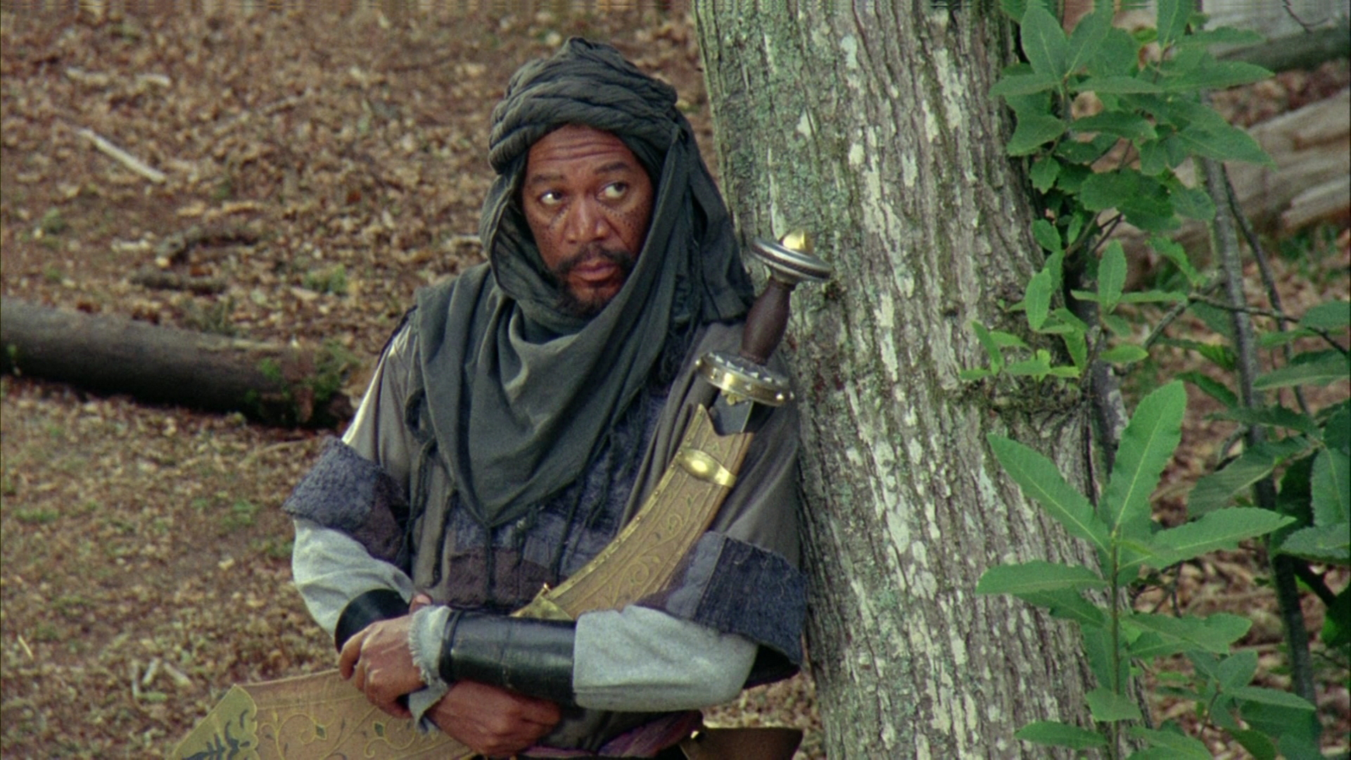 Morgan Freeman in Prince of Thieves.