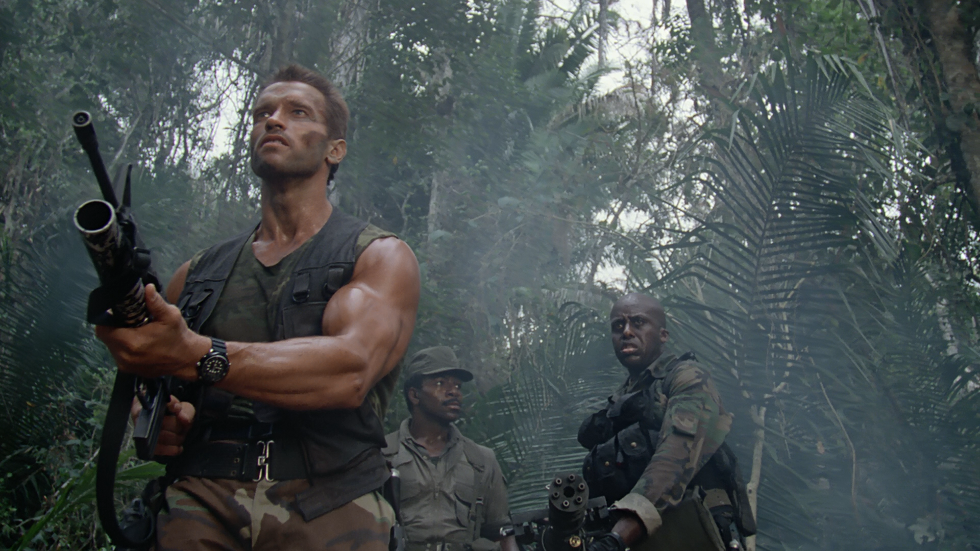 Arnold Schwarzenegger as Dutch in Predator.