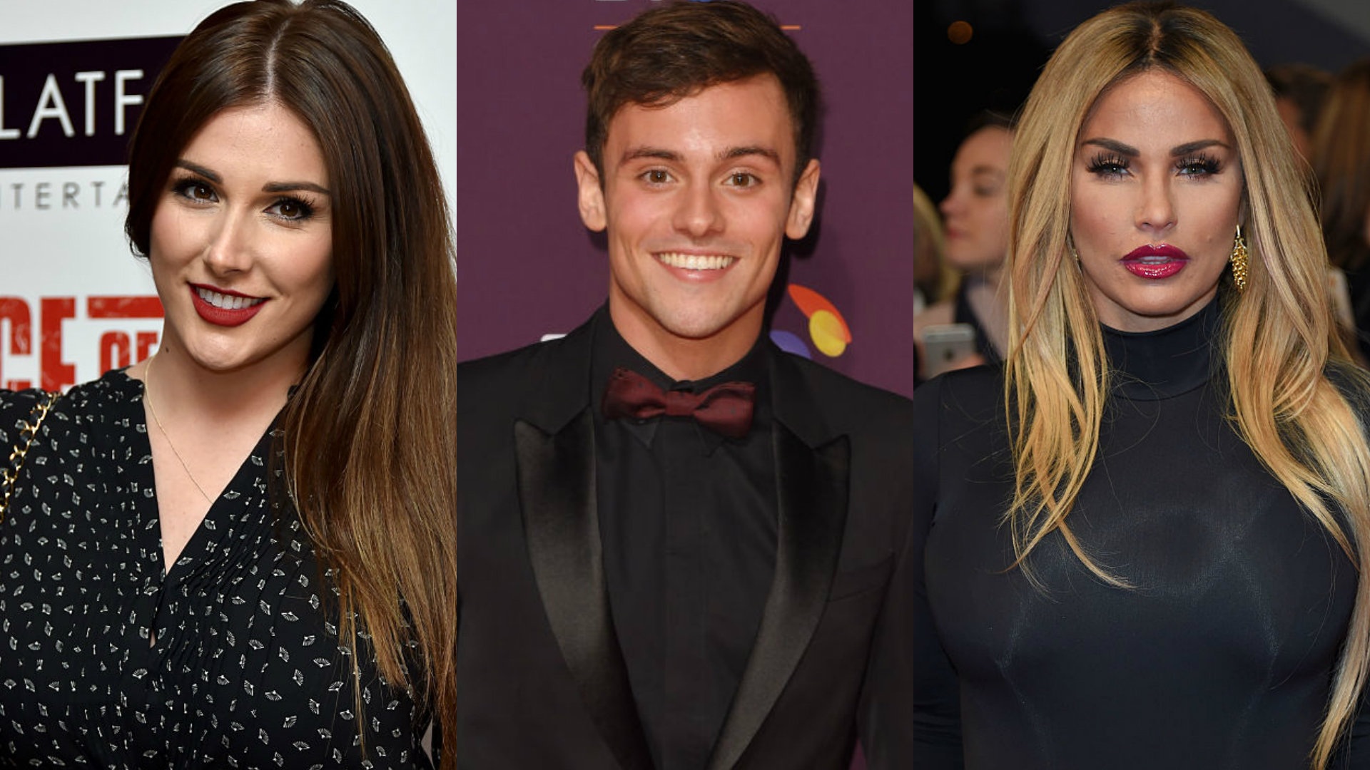 Sharknado stars Lucy Pinder, Tom Daley and Katie Price