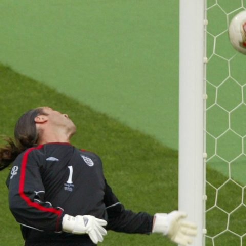 England goalkeeper David Seaman.