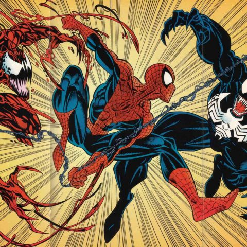 Spider-Man, Venom and Carnage.