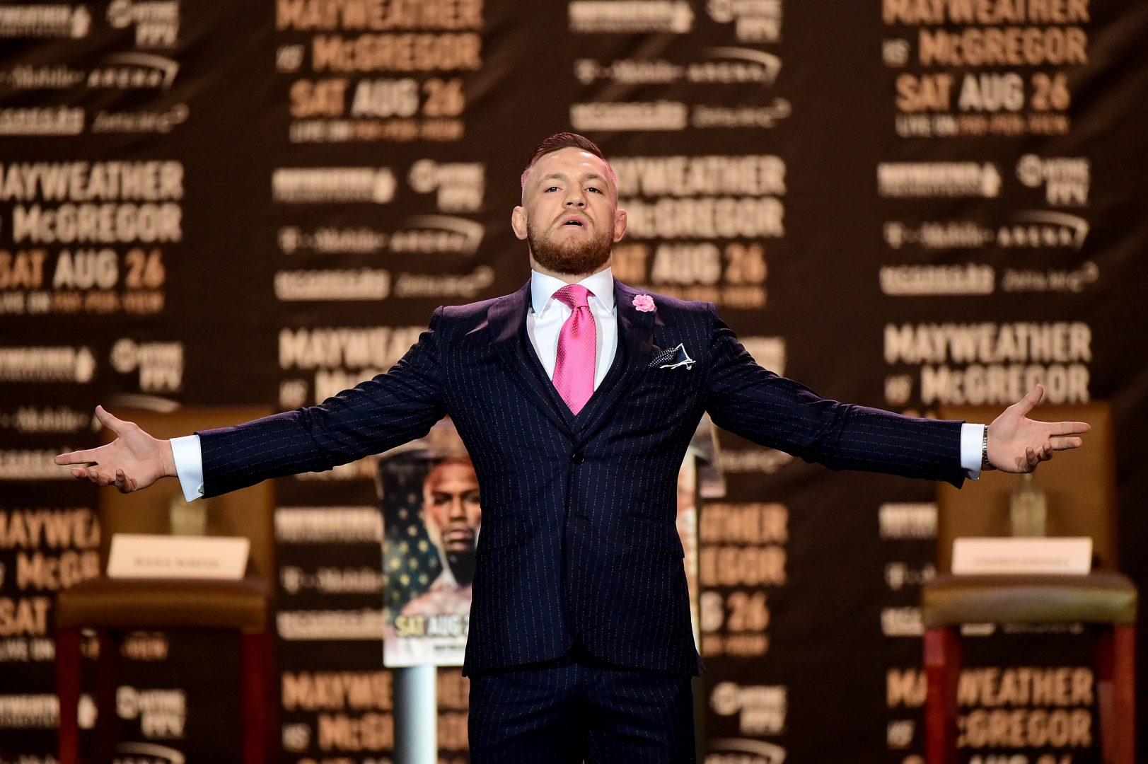 Conor McGregor in a suit.