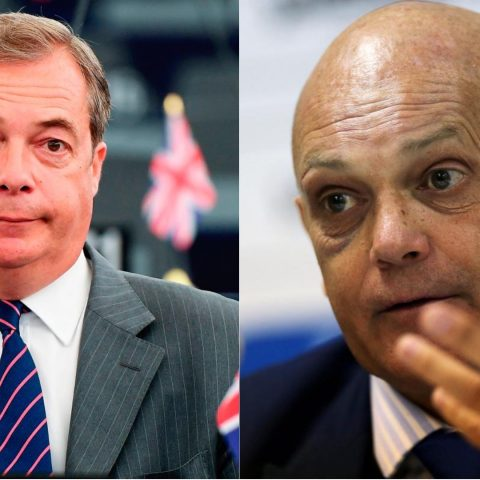 Nigel Farage and Ray Wilkins