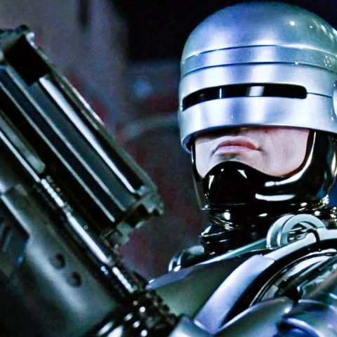 Peter Weller as Robocop.