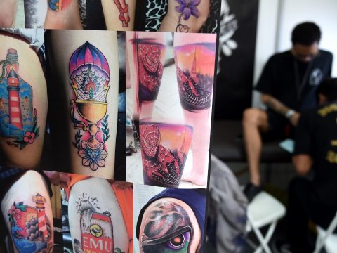 A selection of tattoos.