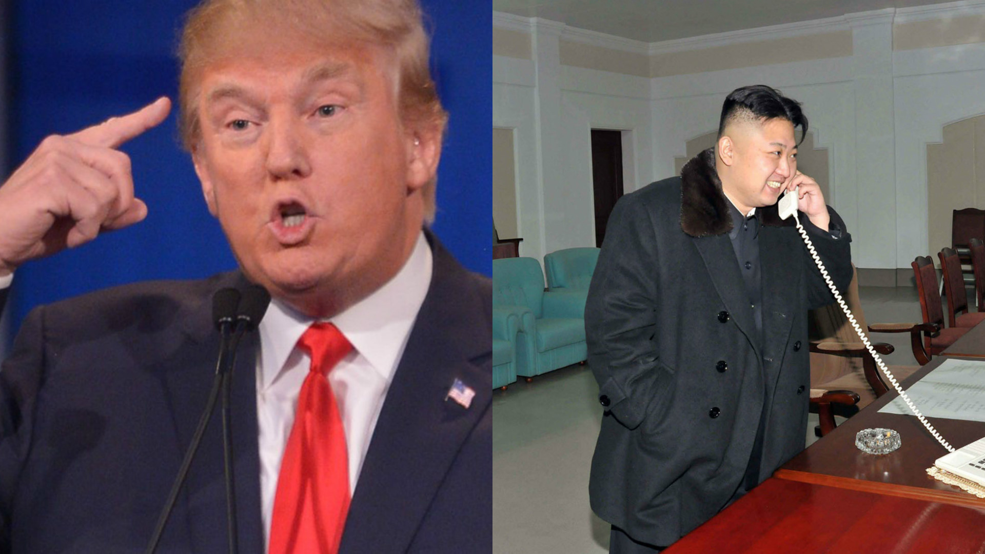 Donald Trump and Kim Jung-un.