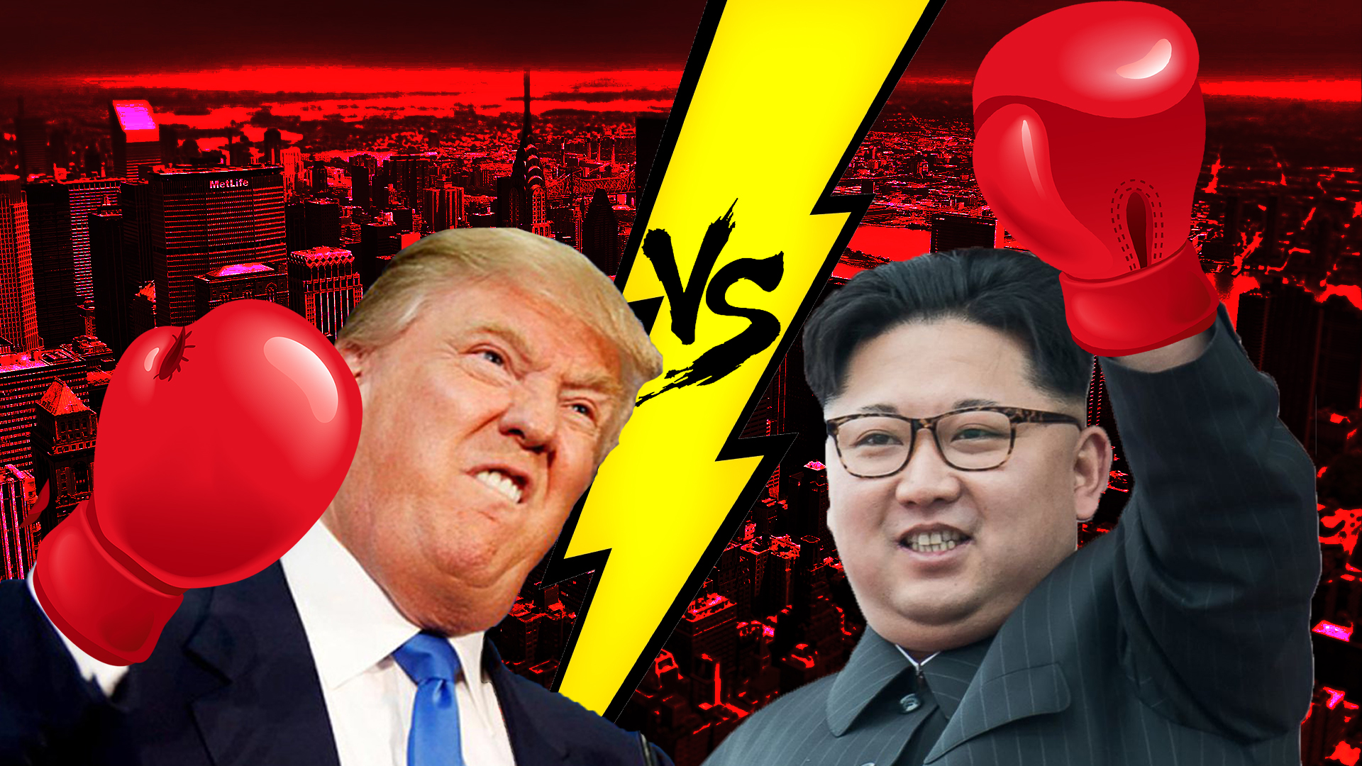 Donald Trump and Kim Jung-un