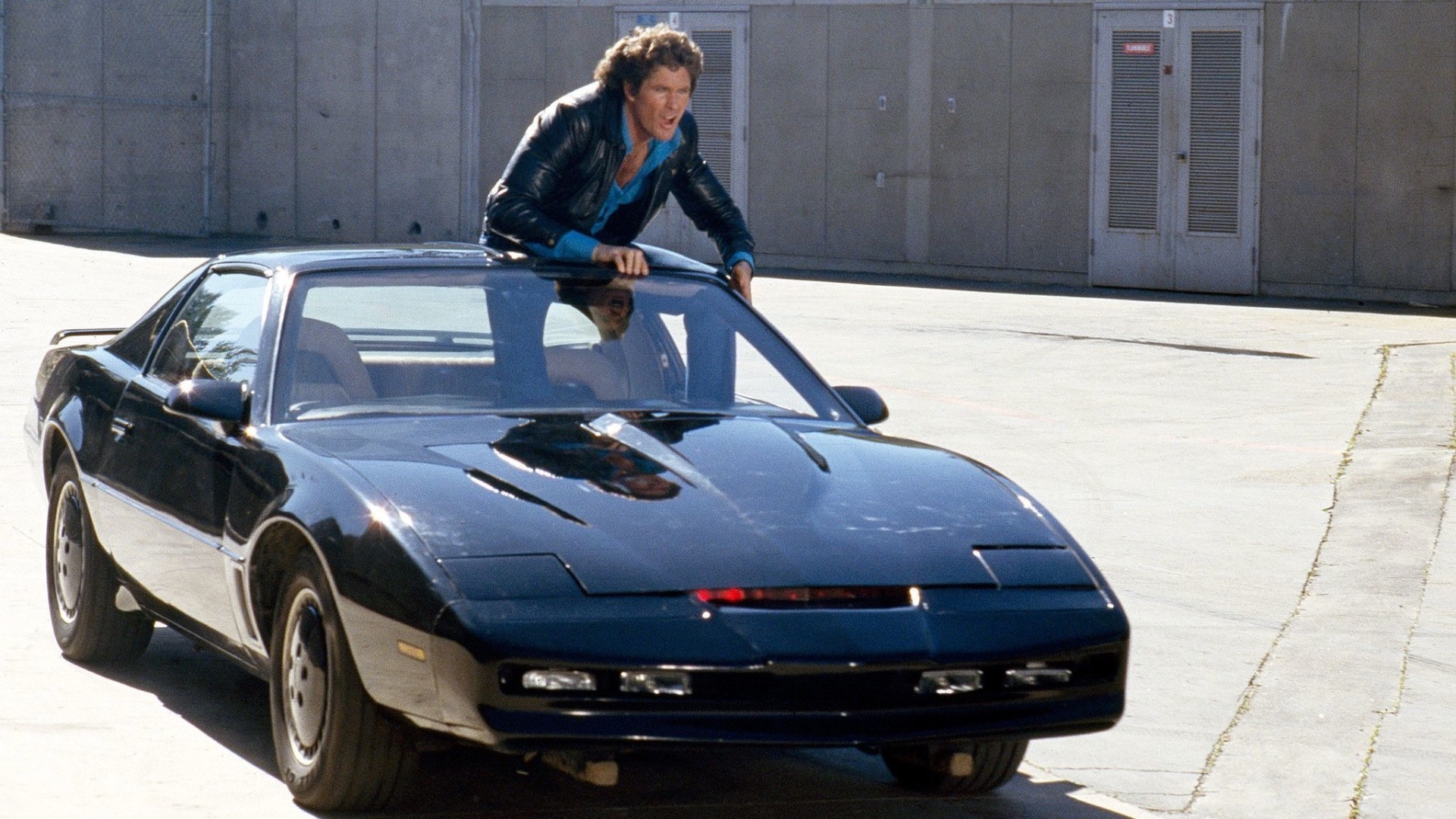 Michael Knight and KITT.