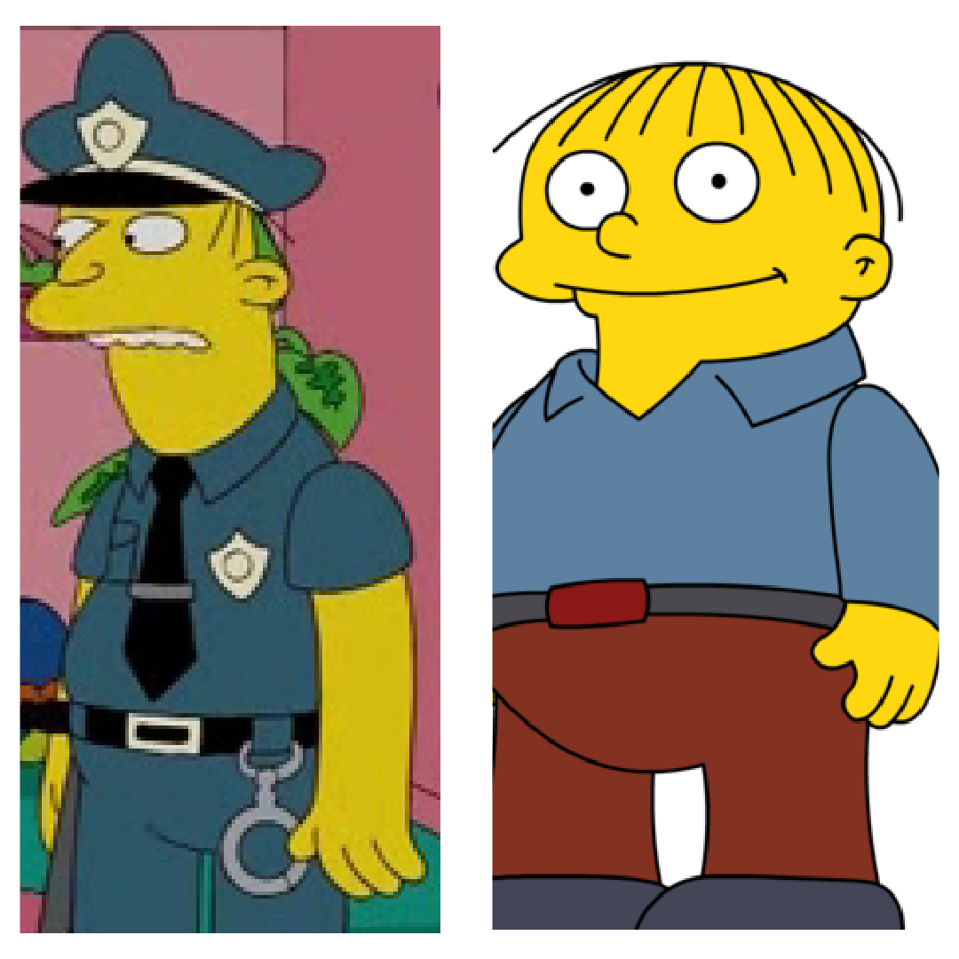 Ralph Wiggum and his dad.