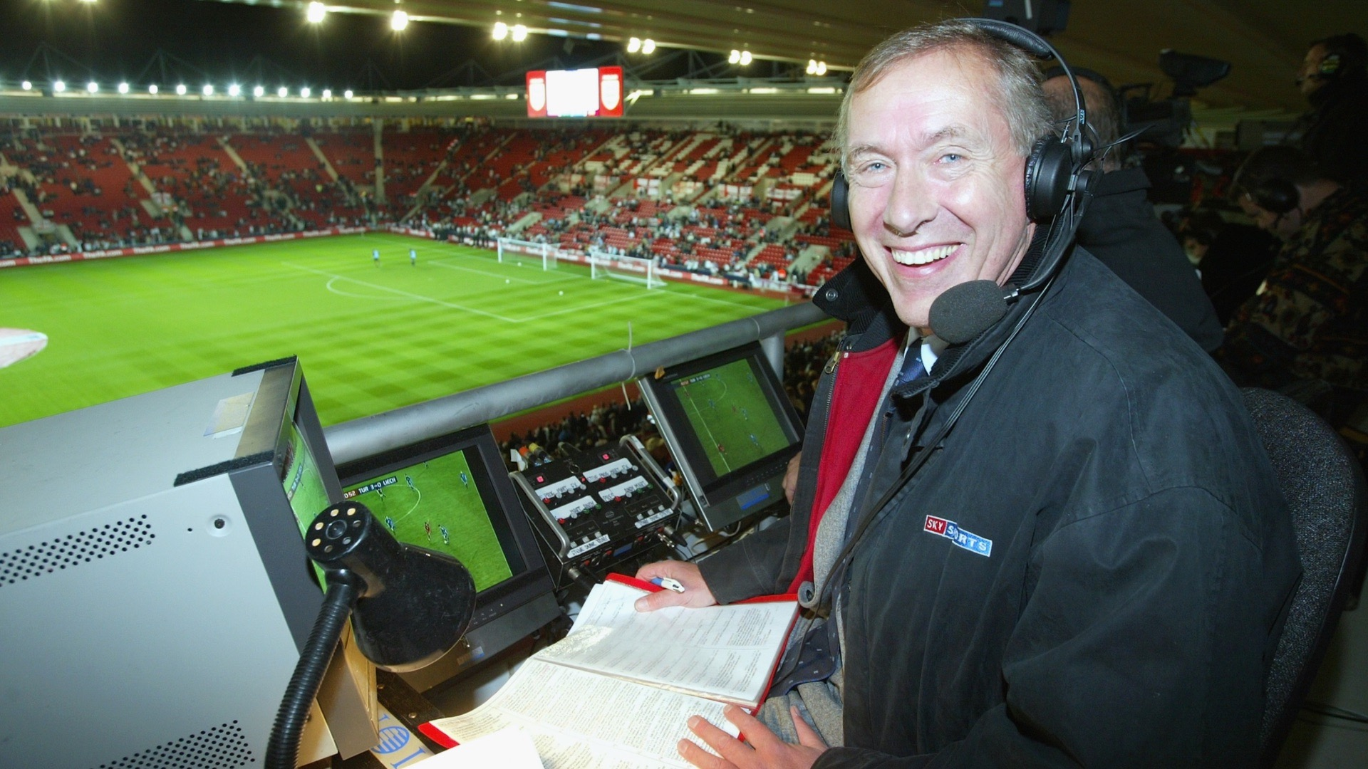 Football commentator Martin Tyler.