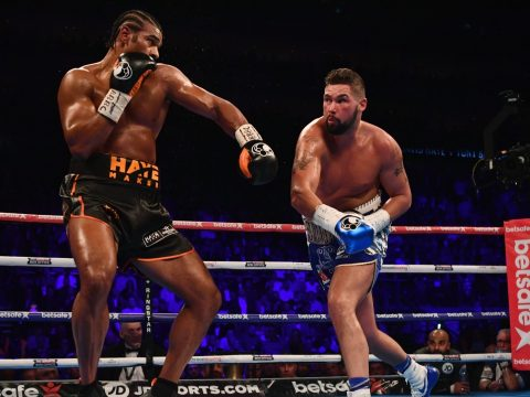 Tony Bellew fighting David Haye.