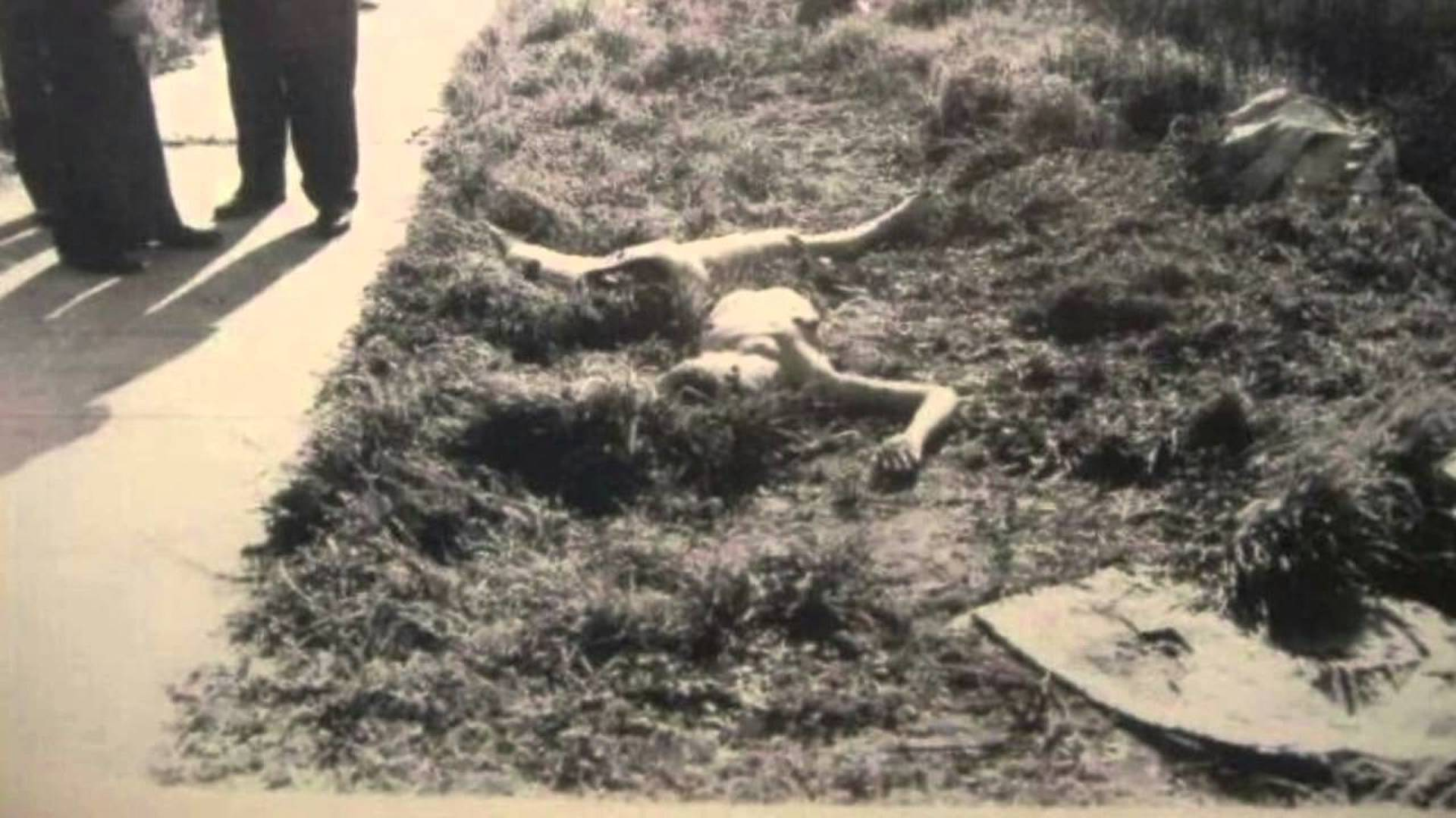 The murder scene of Elizabeth Short.
