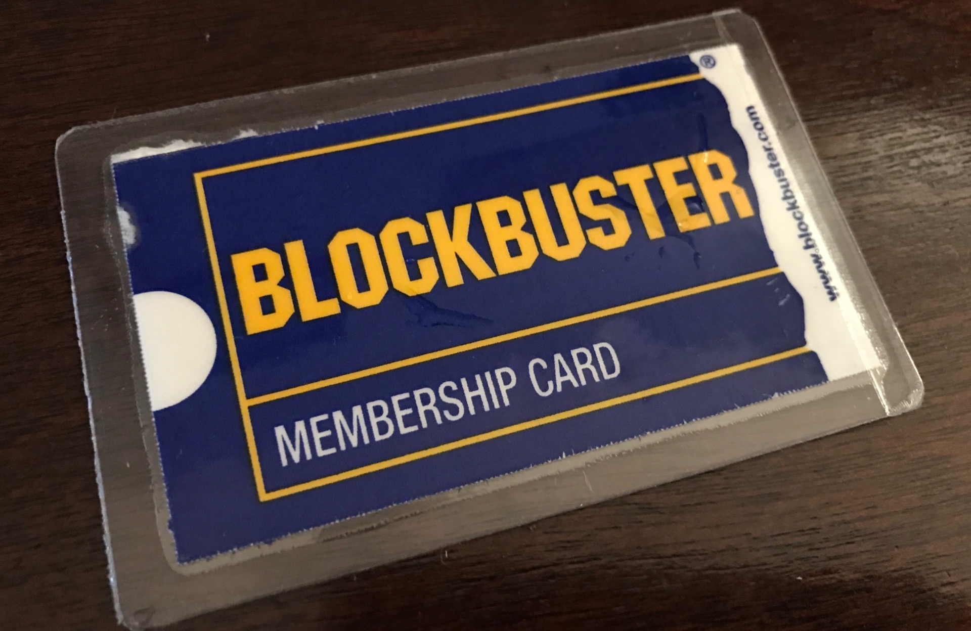 The Blockbuster Membership Card.